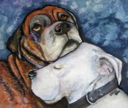 Dog Paintings - Cherish is the Word by Pam Utton