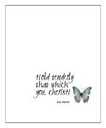 Print Card Framed Prints - Cherish Framed Print by Kate McKenna