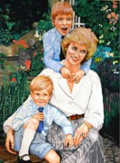 Princess Diana Posters - Cherished Times Poster by Dean Manemann