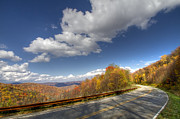 Roadway Framed Prints - Cherohala Skyway Framed Print by Debra and Dave Vanderlaan