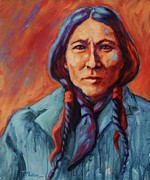 Western Prints - Cherokee High Chief Print by Theresa Paden