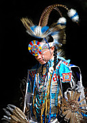 Portraiture Prints - Cherokee Native American Two Print by Skip Willits
