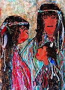 Event Mixed Media - Cherokee Trail of Tears Brave Family by Laura  Grisham