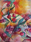 Sandy Collier Metal Prints - Cherries in the Sun Metal Print by Sandy Collier