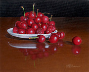 Cherries Paintings - Cherries Jubilee by Jason M Silverman