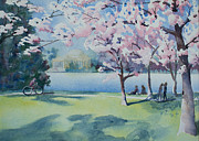 Washington Dc Paintings - Cherry Blossom Festival by Ruth Bailey