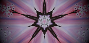 Cherry Blossom Kaleidoscope 2 Print by Heather  Hubb