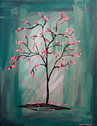 Tree Blossoms Paintings - Cherry Blossom by Lynsie Petig