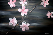 Silver Moonlight Paintings - Cherry Blossom  by Mark Moore