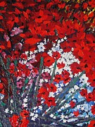 Pallet Knife Prints - Cherry Blossom Print by Shilpi Singh