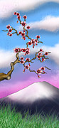 Cherry Art Mixed Media Prints - Cherry Blossoms Print by Anthony Citro