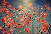 Cherry Blossoms Painting Originals - Cherry Blossoms by Anza Arain