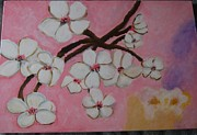 Cherry Blossoms Painting Prints - Cherry Blossoms Print by Dilara Niriella