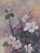 Cherry Blossoms Mixed Media Framed Prints - Cherry Blossoms in the Cosmos Framed Print by Sandy Clift