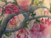 Cherry Blossoms Painting Prints - Cherry Blossoms Print by Sandy Collier