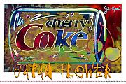 John Keaton Digital Art - Cherry Coke 3- Japan Flower by John Keaton