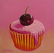 Ice Hotel Metal Prints - Cherry Cupcake Metal Print by John  Nolan