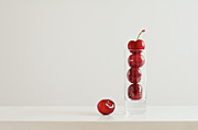 Shot Glass Prints - Cherry Print by Margarita Komine