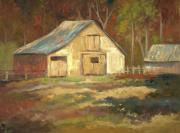 Outbuildings Painting Framed Prints - Cherry Moon Studio Framed Print by Ginger Concepcion
