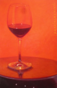 Wine Glasses Paintings - Cherry Spice by Penelope Moore