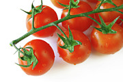 Food And Beverage Prints - Cherry Tomatoes Print by Carlos Caetano