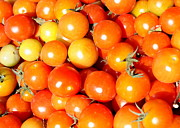 Grocery Stores Prints - Cherry Tomatoes Print by Carol Groenen