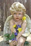 Cherub Originals - Cherub Holding Fresh Flowers by William Ohanlan