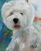 Dog Art - Cherubino by Mary Sparrow Smith