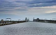 Chesapeake Bay Metal Prints - Chesapeake Bay Bridge Maryland Metal Print by Brendan Reals