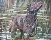 Bird Dog Posters - Chesapeake Bay Retriever bird dog Poster by Lee Ann Shepard