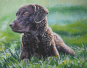 Chesapeake Bay Metal Prints - Chesapeake Bay Retriever Metal Print by Lee Ann Shepard