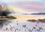 Tranquility Painting Originals - Chesapeake Bay Sunset by Yolanda Koh