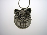 Pendant Jewelry Posters - Cheshire Cat  Poster by Michael Marx