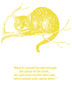 Childrens Book Prints - Cheshire Cat Wisdom Print by Georgia Fowler