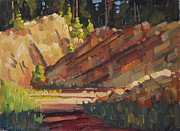 Quarry Paintings - Cheshire Quarry by Len Stomski