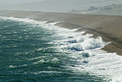 Longshore Drift Prints - Chesil Beach, Dorset Print by Adrian Bicker