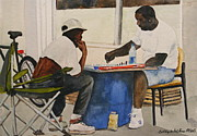 Chess Men Paintings - Chess Anyone  by Bobby Walters