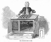 Automaton Framed Prints - Chess: Automaton, 1845 Framed Print by Granger