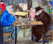 Chess Men Paintings - Chess by Azalea Millet