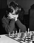 Board Game Photos - Chess Boy by Hales