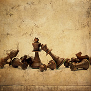 Chess Pieces Prints - Chess game Print by Bernard Jaubert