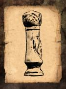Parchment Posters - Chess King Poster by Tom Mc Nemar