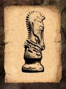 Chess Knight Print by Tom Mc Nemar