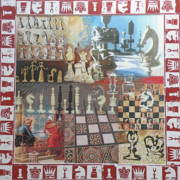 Chess Mixed Media Posters - Chess Poster by Leigh Banks