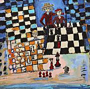Chess Painting Posters - Chess Poster by Maggis Art