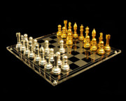 Chess Set Prints - Chess Print by Michael Peychich