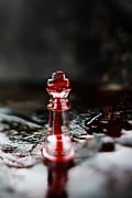 Chess Piece In Blood Print by Stephanie Frey