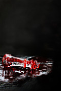 Chess Piece Posters - Chess Piece Lying in blood Poster by Stephanie Frey