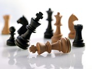 Game Piece Photos - Chess Pieces by Tony Mcconnell
