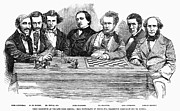 Riviere Metal Prints - Chess Players, 1855 Metal Print by Granger
